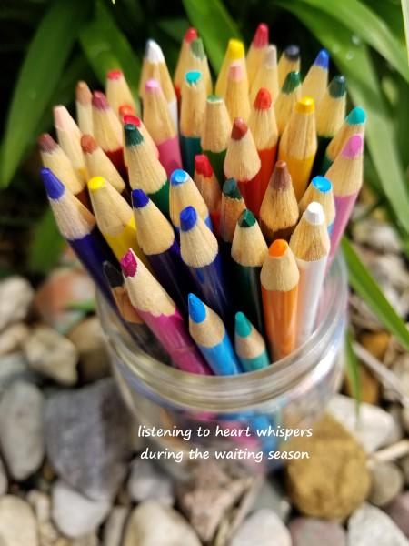 colored pencils title